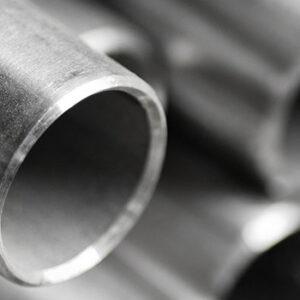 closeup of metal pipe